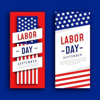 Design de modelo de banner para o dia do trabalho