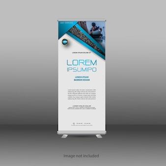 Design de modelo de banner profissional de roll-up