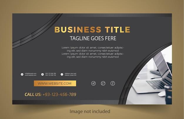 Design de modelo de banner profissional para negócios Vetor Premium