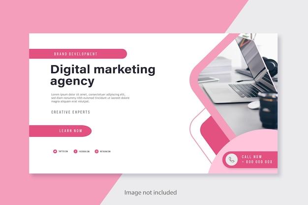 Design de modelo de banner profissional para negócios