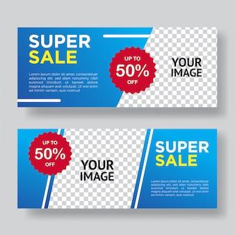 Design de modelo de banner super venda