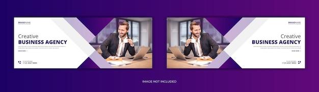 Design de modelo de banner web capa de facebook negócios corporativos
