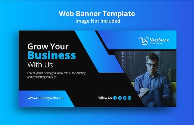 Design de modelo de banner web para promoção de negócios