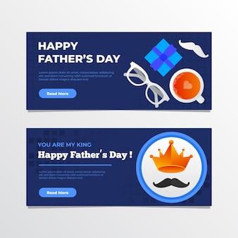 Design de modelo de banners de dia dos pais
