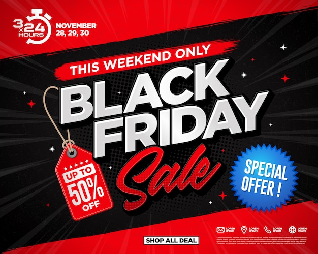 Design de modelo de banners de venda sexta-feira negra