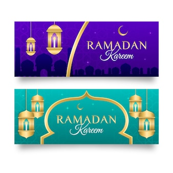 Design de modelo de banners do ramadã
