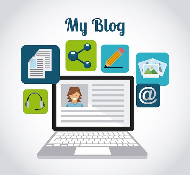 Design de modelo de blog