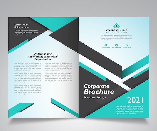 Design de modelo de brochura corporativa