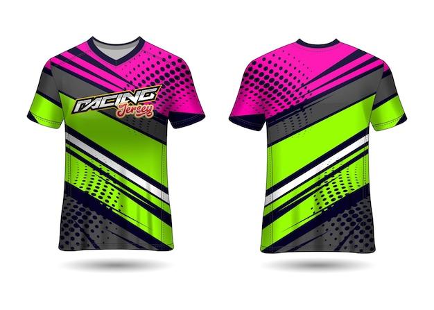 Design de modelo de camisa de corrida
