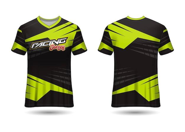 Design de modelo de camisa de esporte de corrida