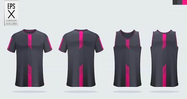 Design de modelo de camisa de futebol ou esporte Vetor Premium