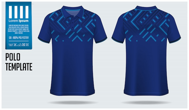 Design de modelo de camisa polo.