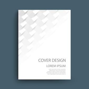 Design de modelo de capa com formas geométricas