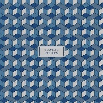 Design de modelo de capa com padrão geométrico azul e cinza