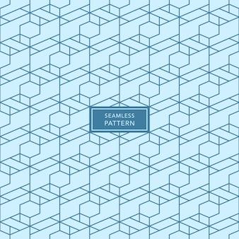 Design de modelo de capa com padrão geométrico azul