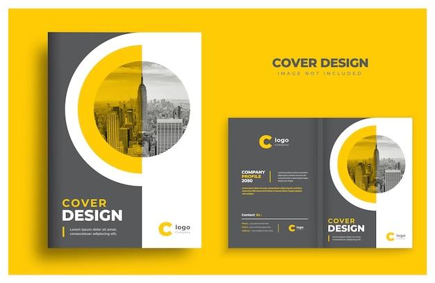 Design de modelo de capa de livro design de capa de brochura