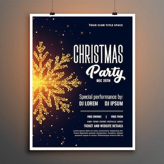 Design de modelo de capa de panfleto de festa de natal criativa