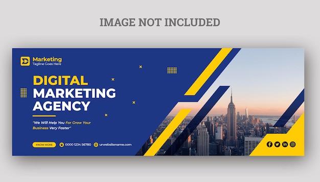 Design de modelo de capa do facebook de marketing empresarial digital