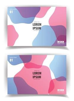 Design de modelo de capas modernas simples