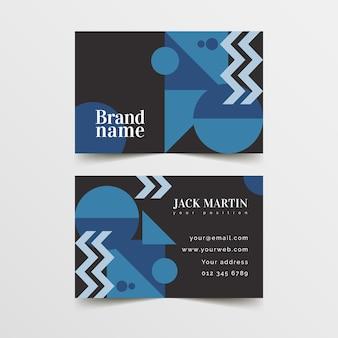 Design de modelo de cartão azul clássico abstrato