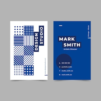 Design de modelo de cartão azul clássico