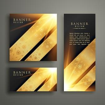 Design de modelo de cartão de bandeira de convite de luxo