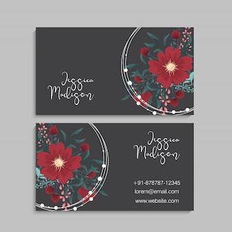 Design de modelo de cartão de convite de saudação botânica