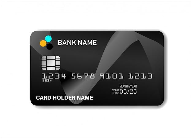 Design de modelo de cartão de crédito