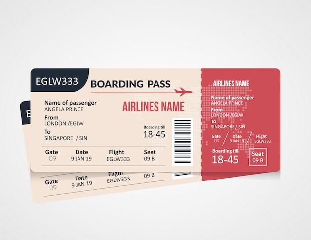 Design de modelo de cartão de embarque