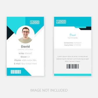 Design de modelo de cartão de identificação do funcionário