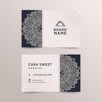 Design de modelo de cartão de mandala