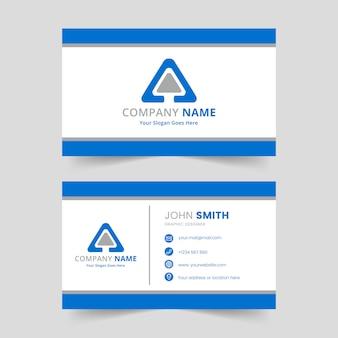 Design de modelo de cartão de negócios moderno corporativo