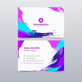 Design de modelo de cartão de visita colorido abstrato