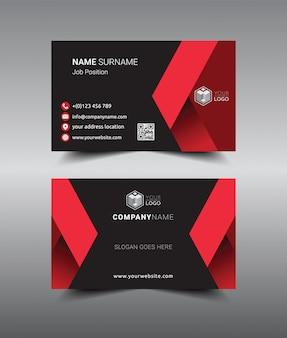 Design de modelo de cartão de visita criativo e limpo moderno.