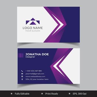 Design de modelo de cartão de visita elegante gradiente
