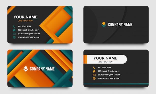 Design de modelo de cartão de visita elegante roxo colorido