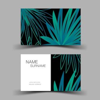 Design de modelo de cartão de visita inspiração da folha ilustração em vetor editável eps10