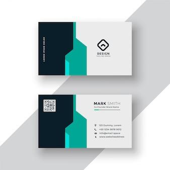 Design de modelo de cartão de visita minimalista criativo