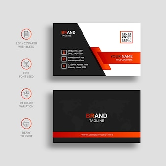 Design de modelo de cartão de visita moderno e criativo