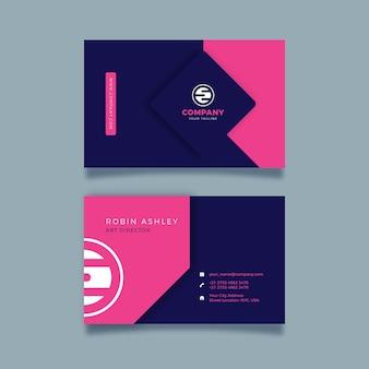 Design de modelo de cartão de visita neumorph