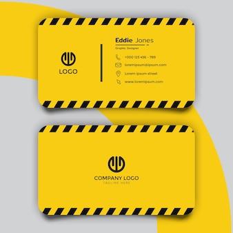 Design de modelo de cartão de visita padrão de linha policial