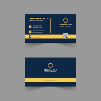 Design de modelo de cartão de visita para empresa de negócios