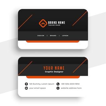 Design de modelo de cartão de visita profissional e criativo