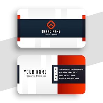 Design de modelo de cartão de visita vermelho limpo