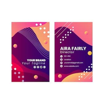 Design de modelo de cartão de visita vertical frente e verso seo