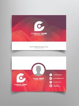 Design de modelo de cartão de visita