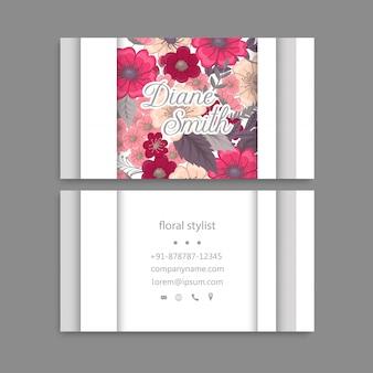 Design de modelo de cartão floral.
