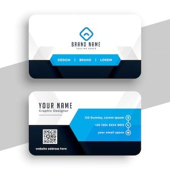 Design de modelo de cartão profissional azul moderno