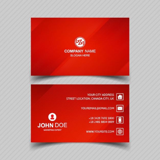 Design de modelo de cartão vermelho lindo