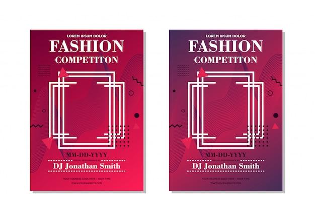 Design de modelo de cartaz abstrato vermelho estilo de moda